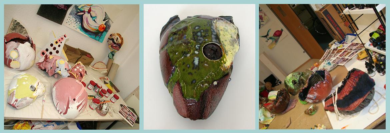 Annett Oehme Keramik glasiert, Kleinplastik